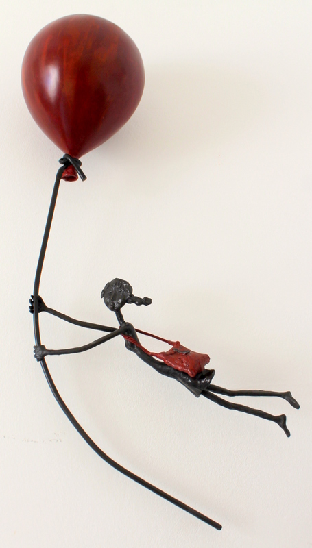 "Flying a red balloon"", Bronze"""