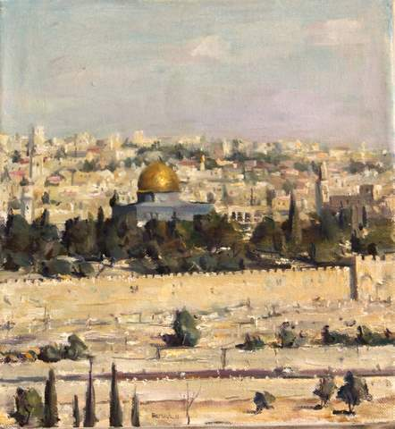 Jerusalem, oil on canvas, 37*40 cm